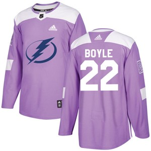 Men's Tampa Bay Lightning Dan Boyle Adidas Authentic Fights Cancer Practice Jersey - Purple