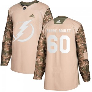 Youth Tampa Bay Lightning Alex Barre-Boulet Adidas Authentic Veterans Day Practice Jersey - Camo