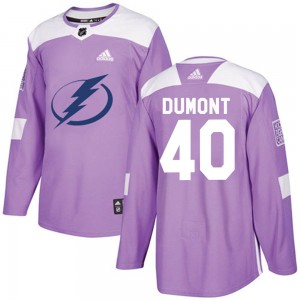 Youth Tampa Bay Lightning Gabriel Dumont Adidas Authentic Fights Cancer Practice Jersey - Purple